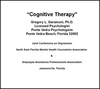 cognitive therapy, dr. garamoni, lectures